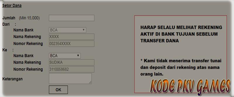 panduan deposit via browser
